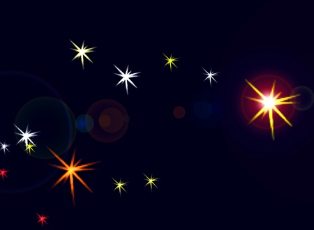 Constellation ursa minor. The car photo