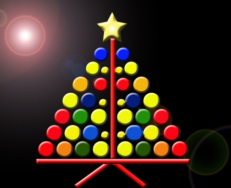 Simple árbol de navidad. La abstracción geométrica Foto de archivo