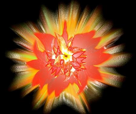 Expresión floral. El expresionismo abstracto Foto de archivo