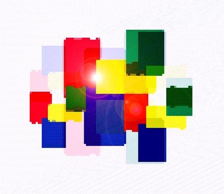 Expresión de los rectángulos. El expresionismo abstracto Foto de archivo