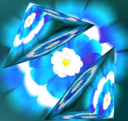 Expresión de flores geométricas. Expresionismo Foto de archivo