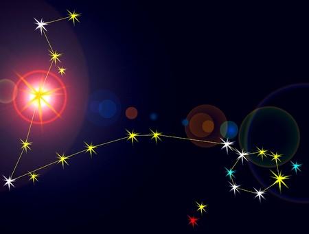 Piscis constelación con las líneas de ubicación.