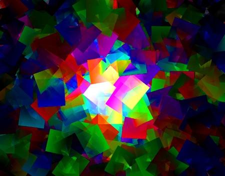 Cubista textura de fondo con una luz central.