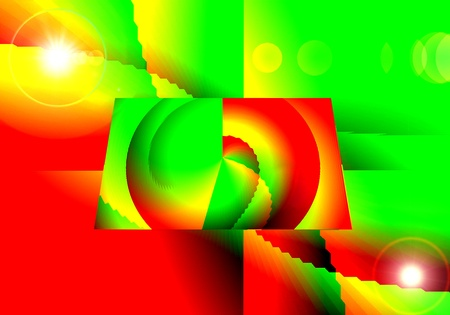 persepective: Rectangle  Geometry abstraction  Surrealism Stock Photo
