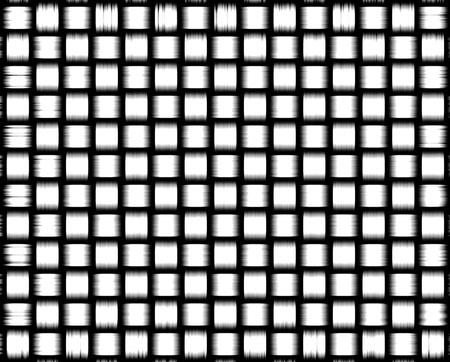 Trenzado textura patrón de fondo blanco y negro
