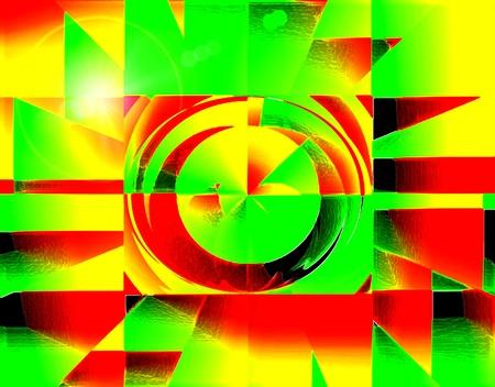 Subterfugios abstracción de la geometría con el borde con acento surrealista Foto de archivo