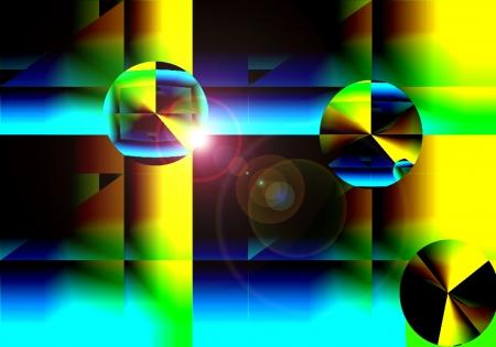 La abstracción de Windows Geometría Foto de archivo