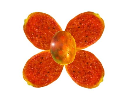 Frutas composición flor