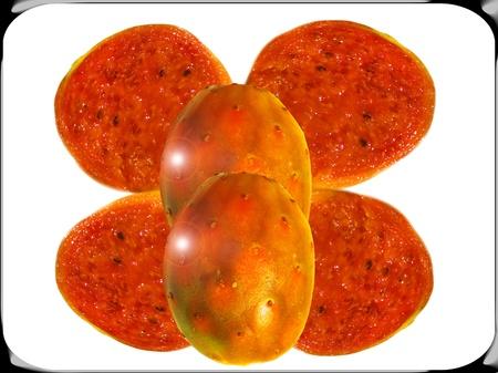 Opuntia ficus-indica fruta Composición Foto de archivo