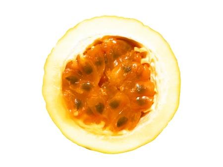Pasión rebanada de la fruta