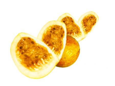 Pasión composición de la fruta Foto de archivo