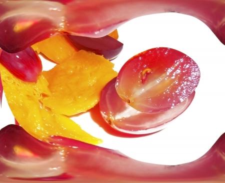 Uva roja y expresión mango