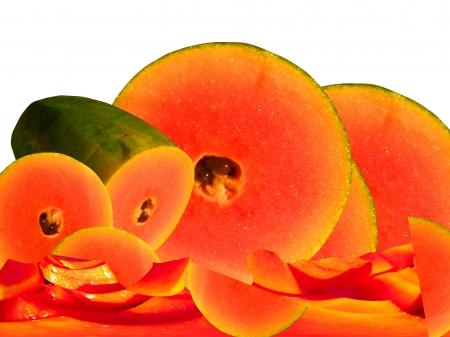 Papaya geometry  expression Stock Photo - 22177624