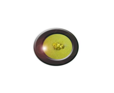 Crema de brócoli porción decorativo