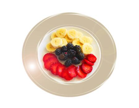 Moras y otras frutas. Composición