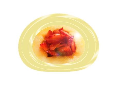 Sandía con fresas. Composición Foto de archivo