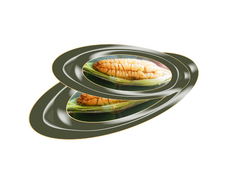 Oído al horno de maíz. Composición. Foto de archivo - 34007940