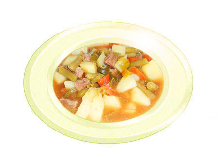Carne con guiso de patatas. Composición. Foto de archivo - 34250557