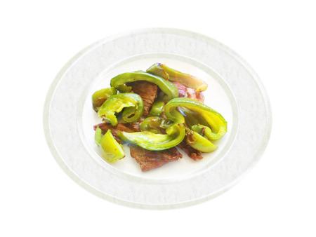 Bistec a la pimienta verde