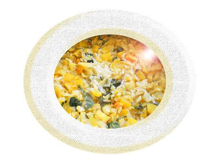 Arroz con verduras Foto de archivo