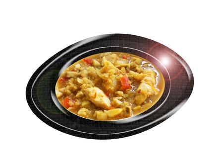 Sopa de quinua con pollo. Composición. Foto de archivo - 44129621
