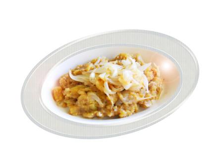 healthier: Dominican mang , healthier version. Composition