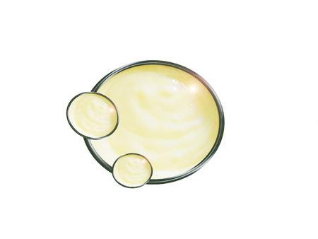 Mayonesa casera con salsa de ajo. Composición. Foto de archivo - 52070744