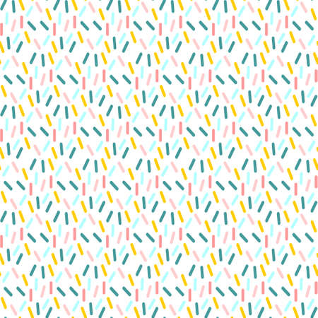 Ice cream confetti sprinkle seamless vector pattern