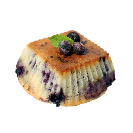 bilberry: bilberry muffins Stock Photo