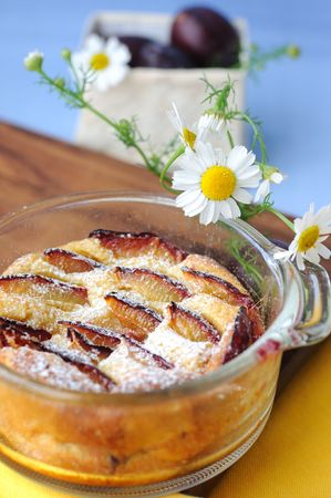 Plum pudding (clafoutis) Stock Photo - 7652279