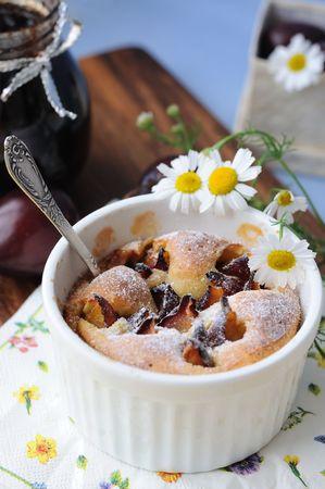 Plum pudding (clafoutis) Stock Photo - 7652286