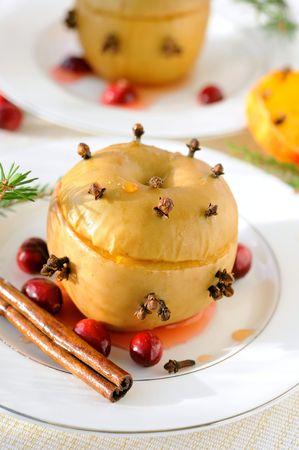 Baked apple  photo