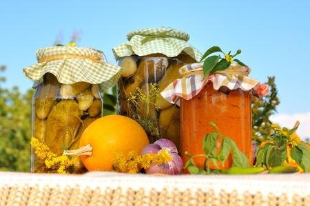 Assorted homemade preserves