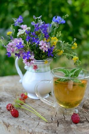 Wildflower: Wildflower and mint tea