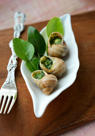 food state: Snails on leaves of lime