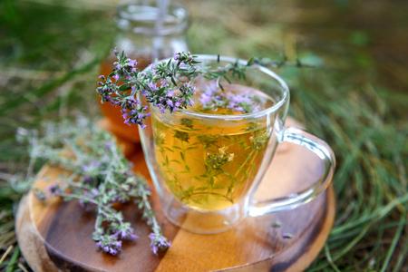 Tea with wild thyme