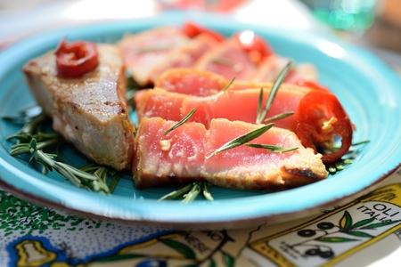 Delicious tuna steak