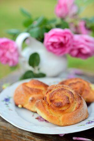 Homemade sugar buns Stock Photo
