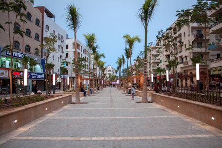April 2018 Egypt Hurghada. New Sherry Street in Hurghada.