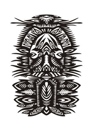 openwork: black decorative pattern with floral elements white background