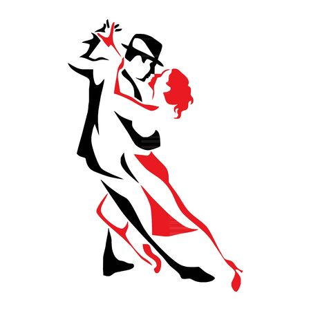 Tango tanzendes Paar Vektorgrafik