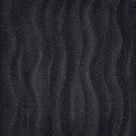 Black Sand beach. Closeup. Texture of sand surface. Overhead view. Vector illustration background.