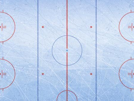 Vector de la pista de hockey sobre hielo. Texturas hielo azul. Pista de hielo. Fondo de ilustración vectorial.