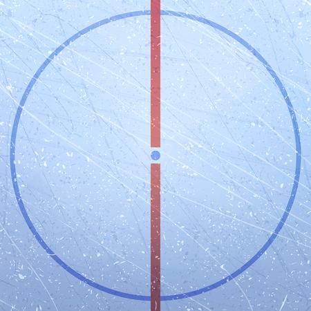 아이스 하 키 스케이트장의 벡터입니다. 푸른 얼음 질감. 아이스 링크. 아이스 하키 경기장. 경기장의 그림. 중앙 원과 던지기 지점. 하키 경기장. 벡터