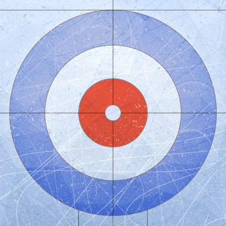 カーリングの家。スポーツ。テクスチャ青氷。アイス スケート リンク。ベクトル図の背景。  イラスト・ベクター素材