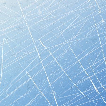Textures blue ice. Ice rink. Vector illustration background.