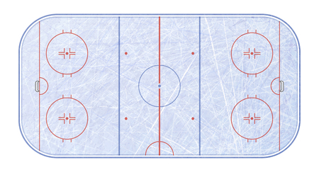 Vector of ice hockey rink. Textures blue ice. Ice rink. top view. Vector illustration background