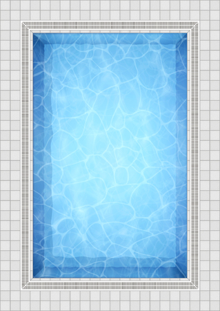Summer background. Swimming pool bottom caustics ripple and flow with waves background. Overhead view. Texture of water surface. Vector background. Stok Fotoğraf - 101280699