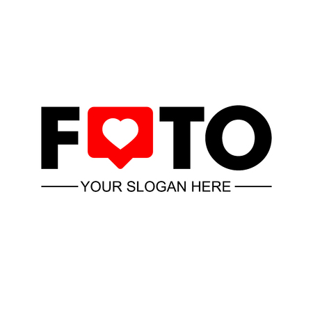 Foto. Business logotype. Corporate, Media, Video, Technology styles. Vector logo. Design template. Counter Notification Icon. Stok Fotoğraf - 124951033