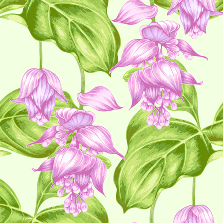 vintage background pattern: Seamless pattern orchid flowers. Vector. Illustration
